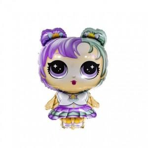 Фольгированный шар фигура Кукла LOL Синеглазка (Китай)