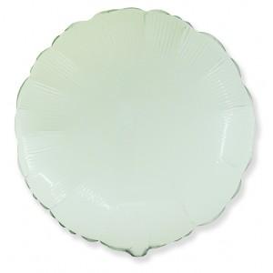 Фольгированный шар 18' (45см) Круг Белый (Flexmetal)