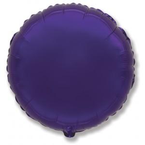 Фольгированный шар 18' (45см) Круг Фиолетовый (Flexmetal)