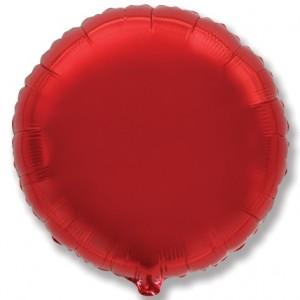 Фольгированный шар 18' (45см) Круг Красный (Flexmetal)