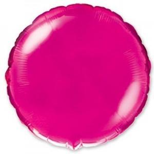 Фольгированный шар 18' (45см) Круг Малиновый (Flexmetal)