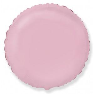 Фольгированный шар 18' (45см) Круг Пастель Розовый (Flexmetal)