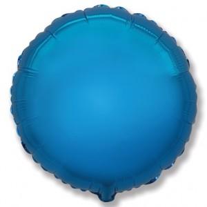 Фольгированный шар 18' (45см) Круг Синий (Flexmetal)