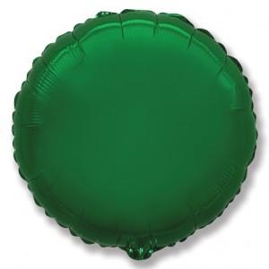 Фольгированный шар 18' (45см) Круг Зелёный (Flexmetal)