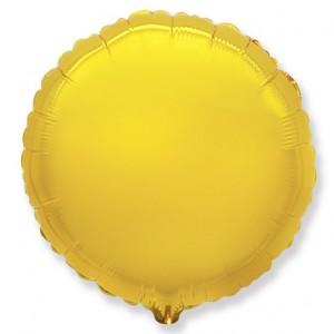 Фольгированный шар 18' (45см) Круг Золото (Flexmetal)