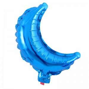 Фольгированный шар 10' (26 см) Мини - Полумесяц Синий (Китай)