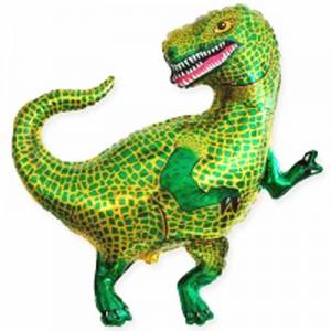 Фольгированный шар мини фигура Динозавр Зелёный (Flexmetal)