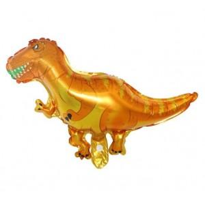 Фольгированный шар мини фигура Тиранозавр Рекс Желтый (Китай)