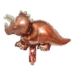 Фольгированный шар мини фигура Динозавр Коричневый (Китай)