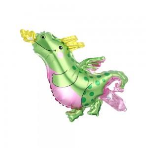 Фольгированный шар мини фигура Динозавр Зелёный (Китай)