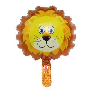Фольгированный шар мини фигура Голова льва (Китай)