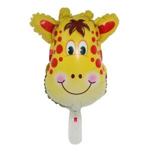 Фольгированный шар мини фигура Голова жирафа (Китай)