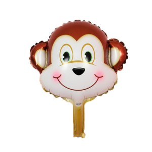 Фольгированный шар мини фигура Голова обезьянки (Китай)