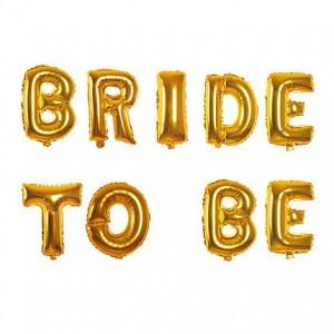 """Фольгированная надпись из букв """"Bride to be"""" Золото (Китай)"""