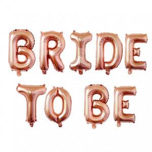 """Фольгированная надпись из букв """"Bride to be"""" Rose Gold  (Китай)"""