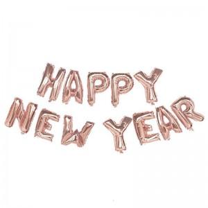 """Фольгированная надпись из букв """"Happy New Year"""" Rose Gold (Китай)"""
