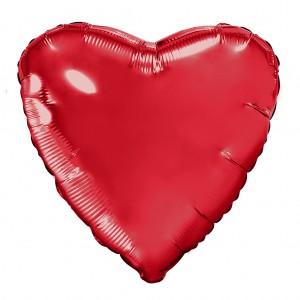 Фольгированный шар 18' (45см) Сердце Красный (Agura)