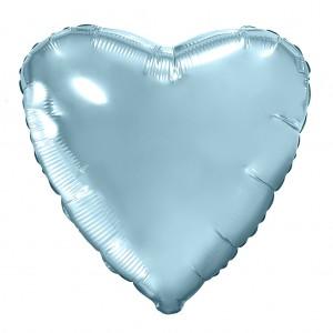 Фольгированный шар 18' (45см) Сердце Нежно-Голубой (Agura)
