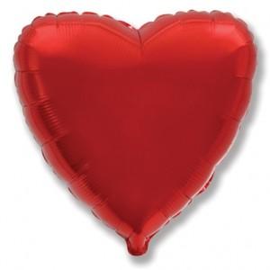 Фольгированный шар 18' (45см) Сердце Красное (Flexmetal)