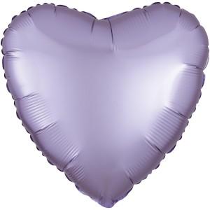 Фольгированный шар 18' (45см) Сердце Cатин Лиловый (Flexmetal)