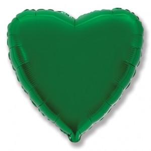 Фольгированный шар 18' (45см) Сердце Зеленое (Flexmetal)