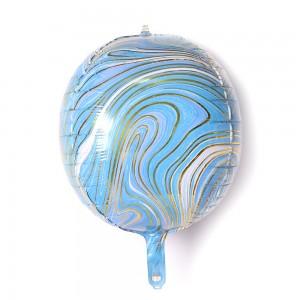 """Фольгированный шар 22"""" (55 см) Сфера Агат Голубой (Китай)"""