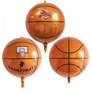 """Фольгированный шар 22"""" (55 см) Сфера Баскетбольный мяч (принт) (Китай)"""