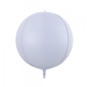 """Фольгированный шар 22"""" (55 см) Сфера Белый матовый (Китай)"""