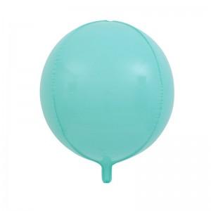 """Фольгированный шар 22"""" (55 см) Сфера Бирюзовый макарун (Китай)"""
