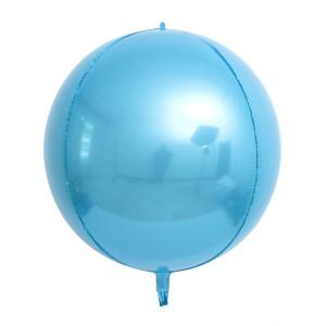 """Фольгированный шар 22"""" (55 см) Сфера Голубая (Китай)"""