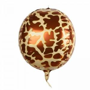 """Фольгированный шар 22"""" (55 см) Сфера Жираф (принт) (Китай)"""