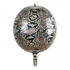"""Фольгированный шар 22"""" (55 см) Сфера Змея (принт) (Китай)"""