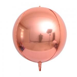 """Фольгированный шар 32"""" (80 см) Сфера Розовое Золото (Китай)"""