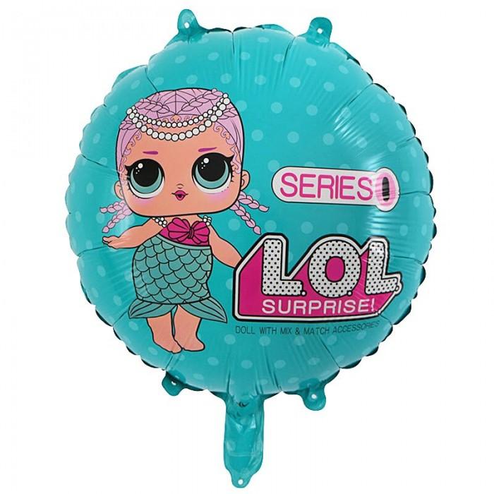 Фольгированный шар 18' (45см) Круг LOL русалка (Китай)
