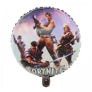 Фольгированный шар 18' (45см) Круг Fortnight (Китай)
