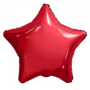 Фольгированный шар 18' (45см) Звезда Красный (Agura)