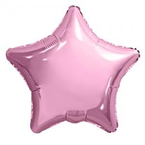 Фольгированный шар 18' (45см) Звезда Нежно-Розовый (Agura)