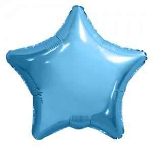Фольгированный шар 18' (45см) Звезда Нежно-Голубой (Agura)