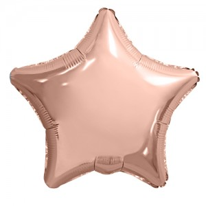 Фольгированный шар 18' (45см) Звезда Rose Gold (Agura)