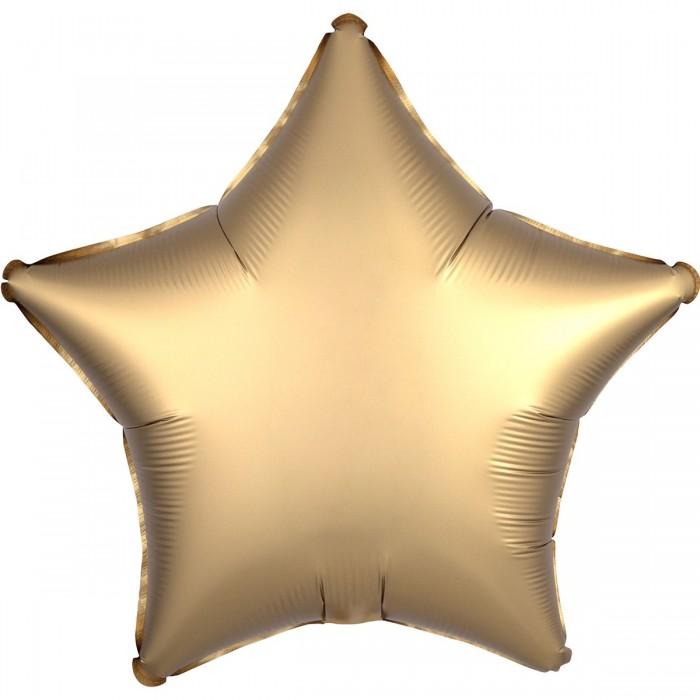 Фольгированный шар 18' (45см) Звезда Сатин Золото (Anagram)