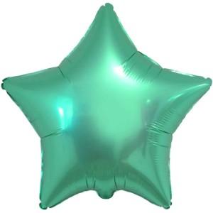 Фольгированный шар 18' (45см) Звезда Изумруд (Flexmetal)