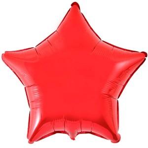 Фольгированный шар 18' (45см) Звезда Красный (Flexmetal)