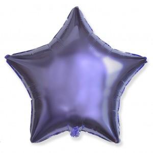 Фольгированный шар 18' (45см) Звезда Лиловый (Flexmetal)