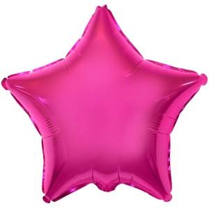 Фольгированный шар 18' (45см) Звезда Малина (Flexmetal)