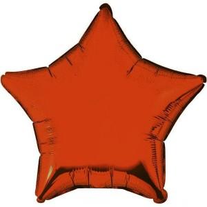 Фольгированный шар 18' (45см) Звезда Оранжевый (Flexmetal)
