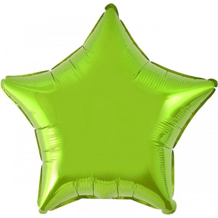 Фольгированный шар 18' (45см) Звезда Салатовый (Flexmetal)