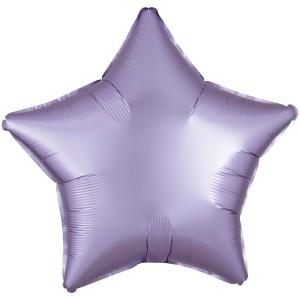 Фольгированный шар 18' (45см) Звезда Cатин Лиловый (Flexmetal)