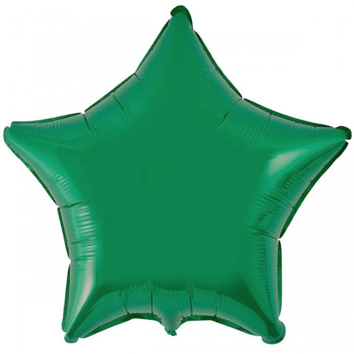 Фольгированный шар 18' (45см) Звезда Зеленый (Flexmetal)