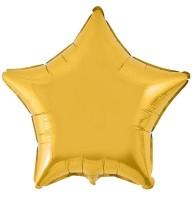 Фольгированный шар 18' (45см) Звезда Золото (Flexmetal)