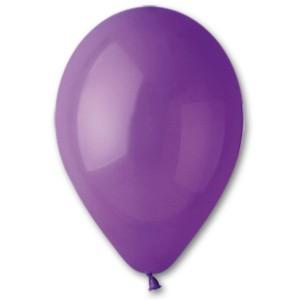 Латексный шар 10″ (25 см.) Пастель Фиолетовый #08 (Gemar) (100 шт.)